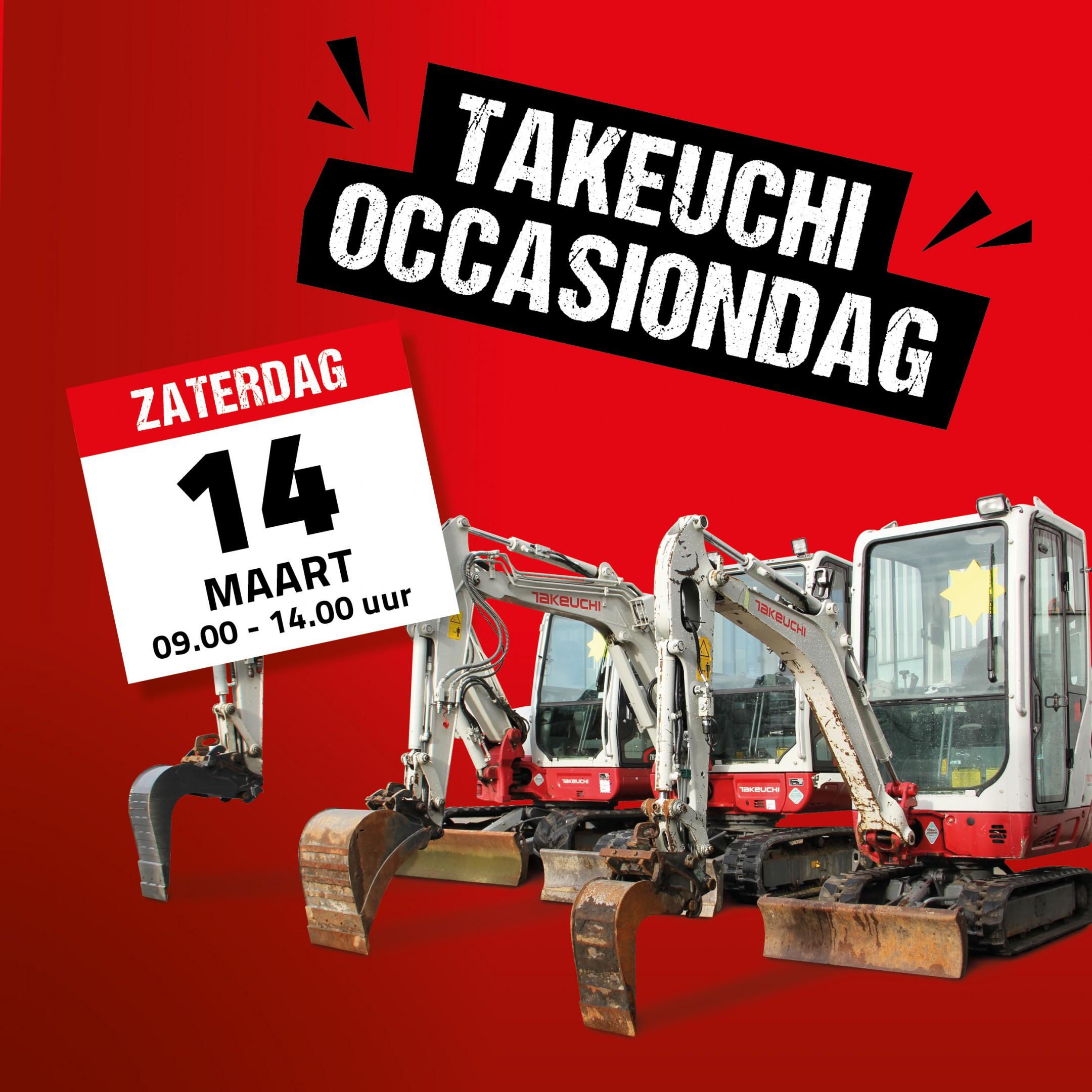 Vereco graafmachines in de verkoop tijdens Takeuchi Occasiondag